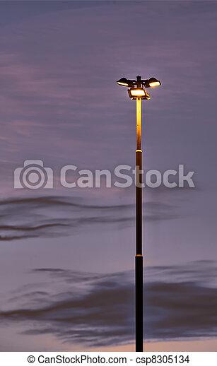 poteau, solitaire, éclairage - csp8305134