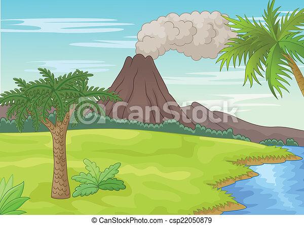 préhistorique, paysage - csp22050879