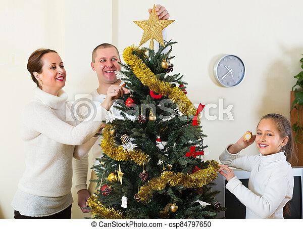 préparer, famille, noël heureux - csp84797650