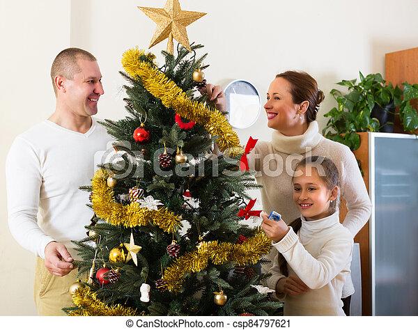 préparer, famille, noël heureux - csp84797621