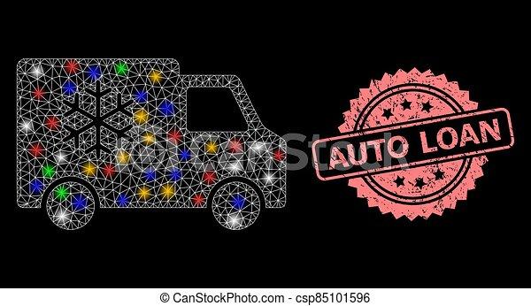 prêt voiture, timbre, lumière, détresse, réfrigérateur, taches, maille, auto - csp85101596