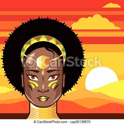 princesse, africaine - csp35138870