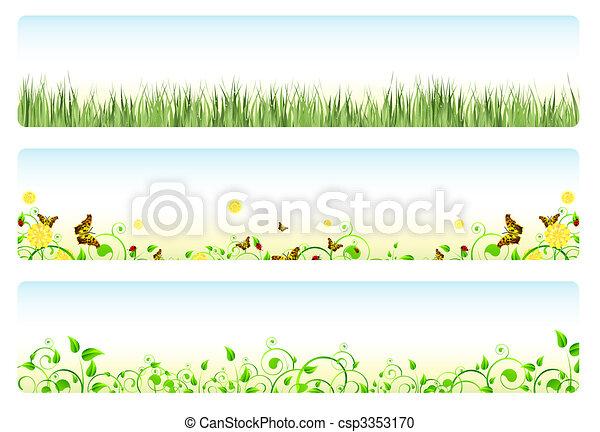 printemps, bannières - csp3353170