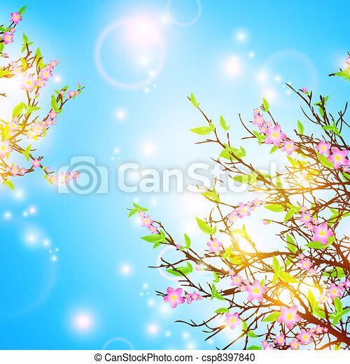 printemps, fond - csp8397840