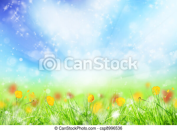 printemps, fond - csp8996536