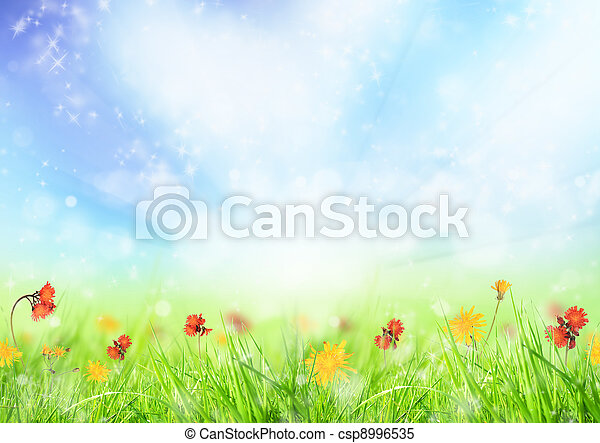 printemps, fond - csp8996535