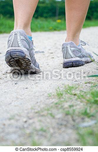 printemps, marche, exercice - csp8559924