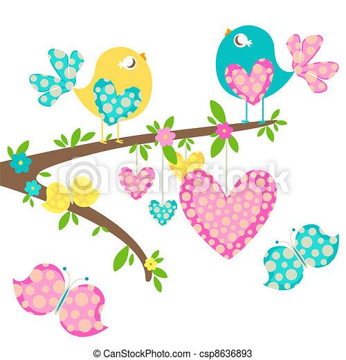 printemps, oiseaux - csp8636893