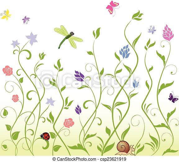 printemps, seamless, fond - csp23621919