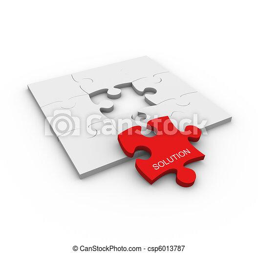 problème, concept, solution - csp6013787