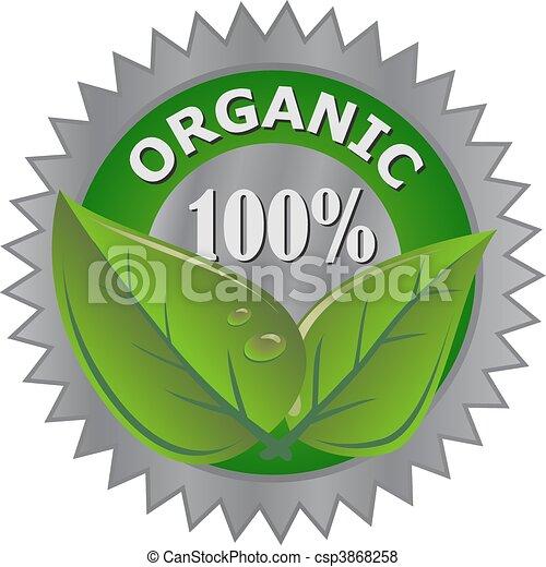 produit, organique, étiquette - csp3868258
