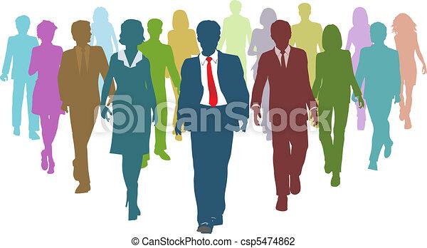 professionnels, divers, humain, associez-vous guide, ressources - csp5474862