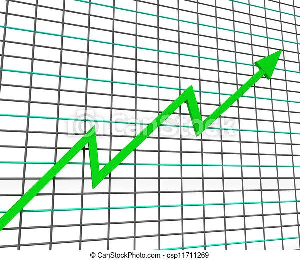 profit, graphique, ligne, vert, spectacles - csp11711269