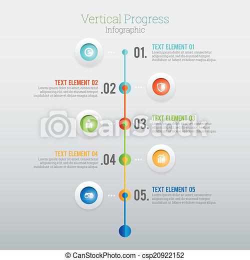 progrès, infographic, vertical - csp20922152
