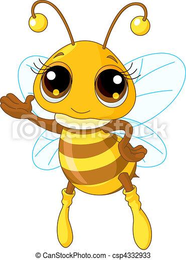 projection, mignon, abeille - csp4332933