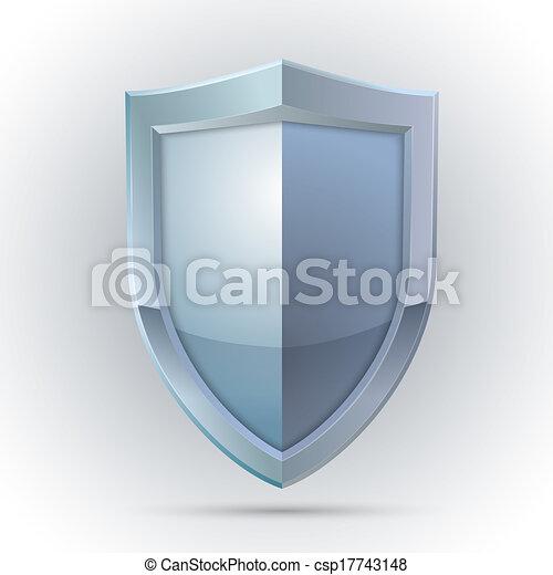 protection, emblème, bouclier, vide - csp17743148