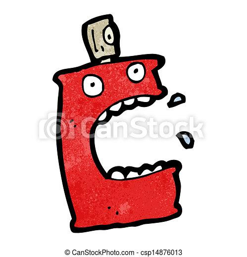 pulvérisation, dessin animé, boîte - csp14876013