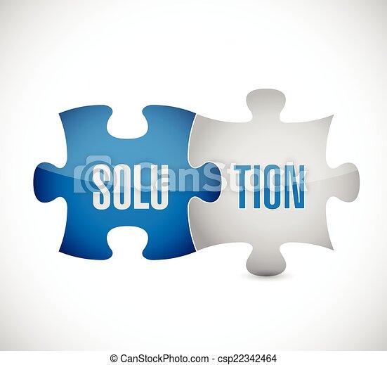 puzzle, conception, solution, illustration - csp22342464