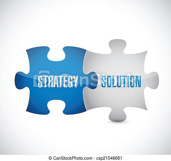 puzzle, conception, solution, illustration, stratégie - csp21546681