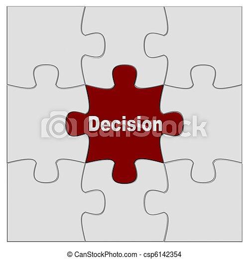 puzzle, décision - csp6142354