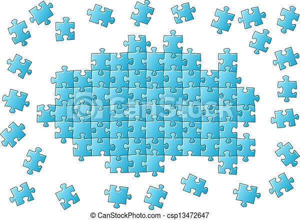 puzzle, inachevé - csp13472647