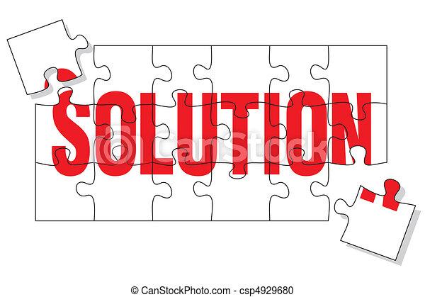 puzzle, solution - csp4929680