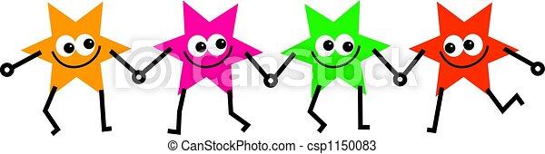 quatre, étoile, équipe - csp1150083