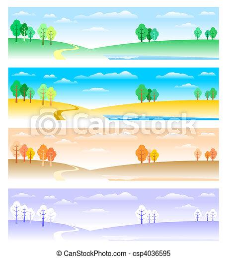 quatre saisons - csp4036595