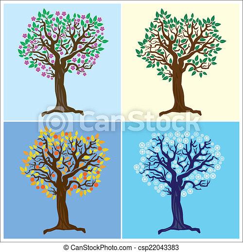 quatre saisons - csp22043383