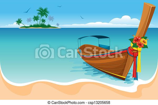 queue, long, bateau - csp13205658