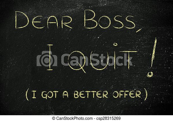 quitter, patron, en mouvement, (i'm, cher, abroad) - csp28315269