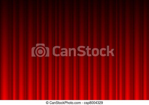 réaliste, rideau rouge - csp8004329