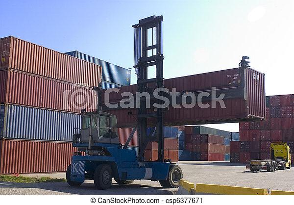 récipients, port, expédition - csp6377671