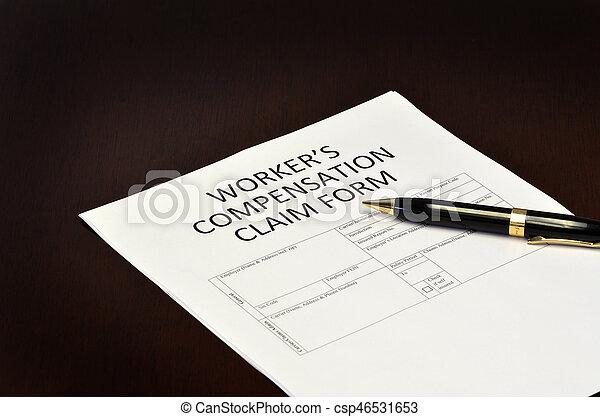 réclamation, formulaire, worker's, application, compensation - csp46531653