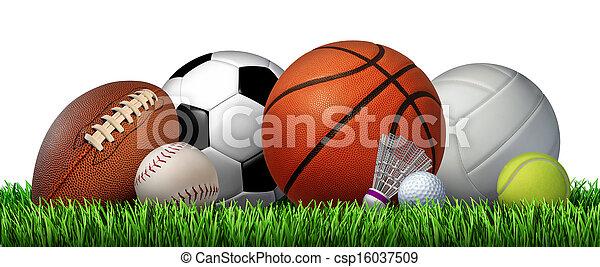 récréation, sports, loisir - csp16037509