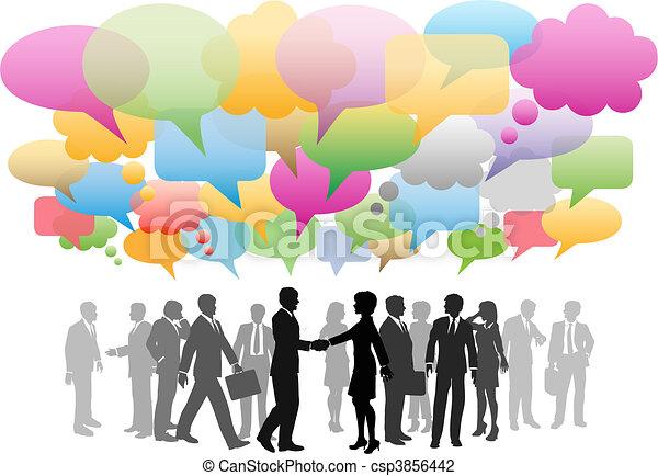 réseau, business, média, compagnie, parole, social, bulles - csp3856442