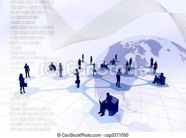réseau, gens - csp3371050