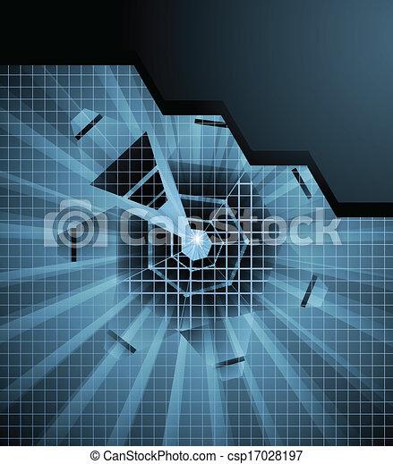 résumé, élevé, vecteur, technologie, fond, futuriste - csp17028197