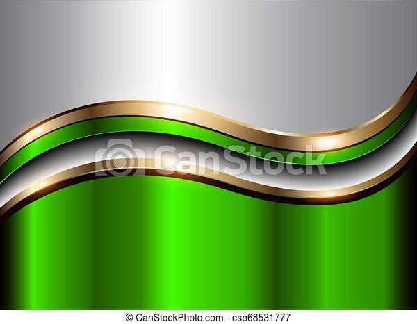 résumé, arrière-plan vert, or - csp68531777