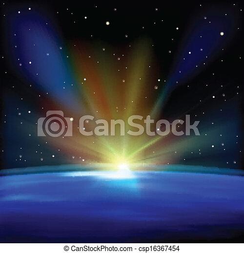 résumé, fond, étoiles, espace - csp16367454