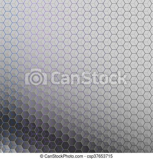 résumé, hexagons., fond - csp37653715