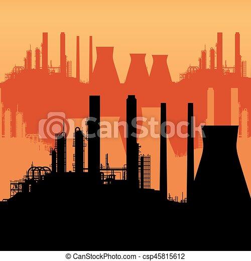 résumé, horizon industriel - csp45815612