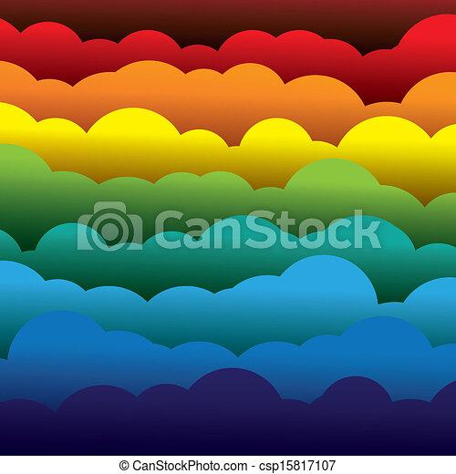 résumé, orange, couleurs, papier, (backdrop), couches, contient, -, jaune, graphic., 3d, bleu, coloré, formé, illustration, fond, utilisation, rouges, nuages, aimer, ceci, vecteur, vert - csp15817107