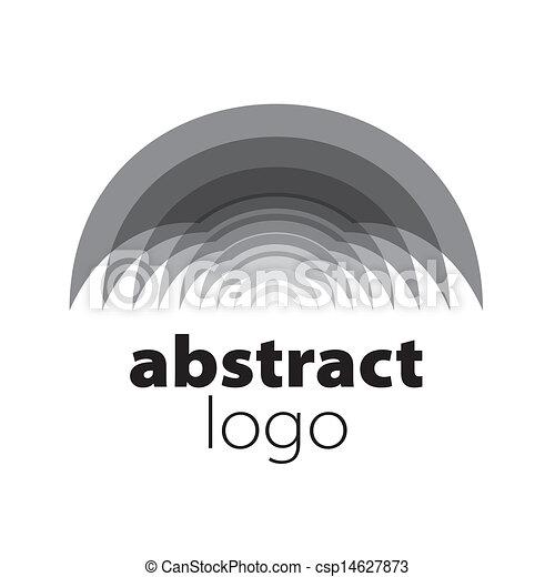 résumé, spectre, vecteur, feuilles, logo, courbé - csp14627873