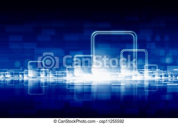 résumé, technologic, fond - csp11255592