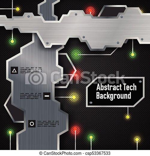 résumé, technologic, fond - csp53367533