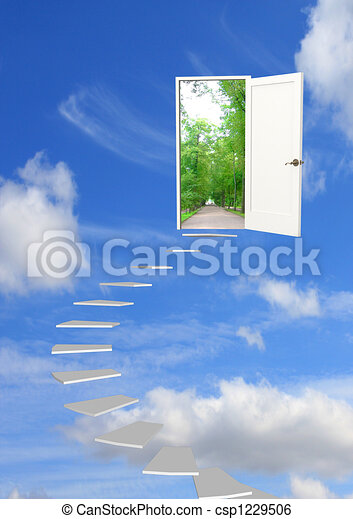 rêve, route - csp1229506