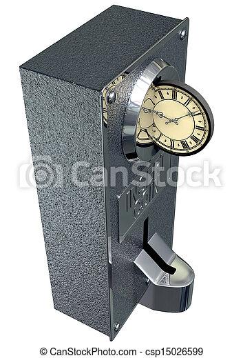 rainure, argent, monnaie, vendange, temps - csp15026599