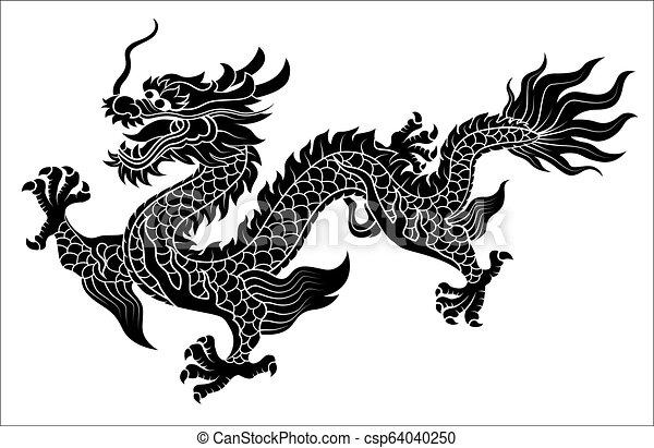 ramper, dragon chinois - csp64040250
