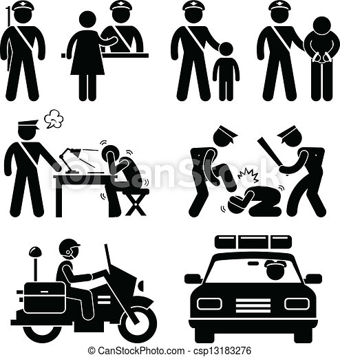 rapport, station, police, policier - csp13183276